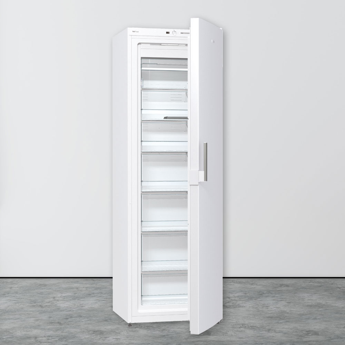 Prosto stoječa zamrzovalna omara s predali